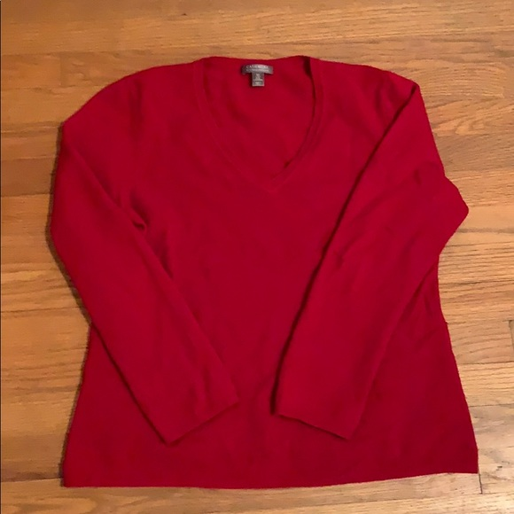 Charter Club Sweaters - Red Cashmere Sweater